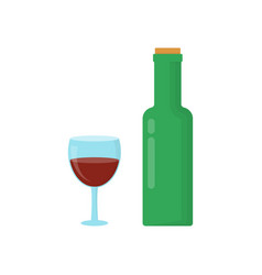 bottle of wine with cork vector image