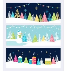 Christmas and Winter Holidays Events Festive vector image vector image