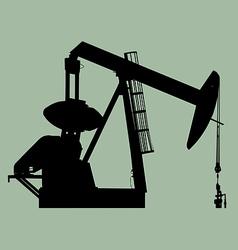 pump jack sihouette vector image vector image