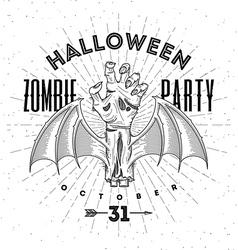 Zombie hand - halloween line art vector image vector image