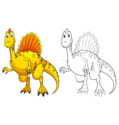 animal outline for dinosaur vector image vector image
