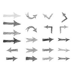 arrow doodle scribble set hand drawn sign vector image
