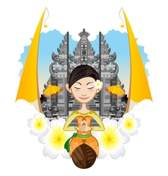 Balinese Girl vector image