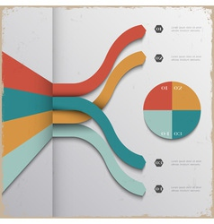 Design template for infographics and website vector image vector image