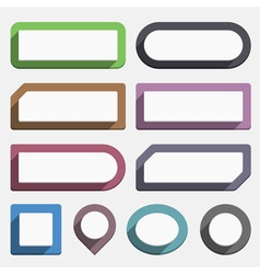 Flat Buttons vector image vector image