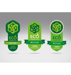 Recycling Label vector image vector image