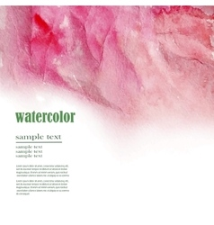 red abstract watercolor background vector image vector image