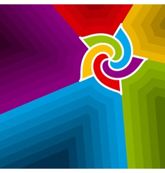 abstract wind wheel background vector image