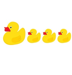 Duck family vector image vector image