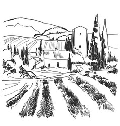 landscape nature with agrarian vector image vector image