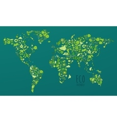 Map Eco Friendly Green Concept Flat vector image vector image