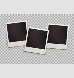 retro instant photo frames vector image