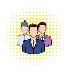 Business team icon comics style vector image