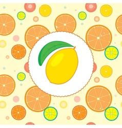 Citrus Design Template vector image