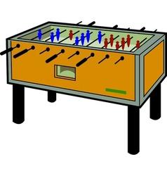 Foosball Table vector image vector image