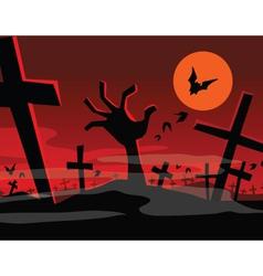 halloween hand vector image vector image