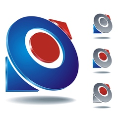 logo arrow two vector image