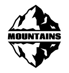 monochrome pattern with three mountains vector image vector image