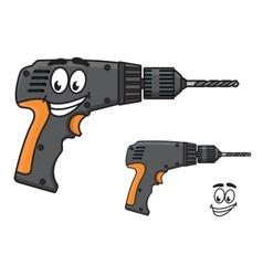 Smiling DIY hand drill with a happy face vector image