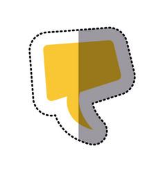 sticker yellow square dialog box design vector image vector image
