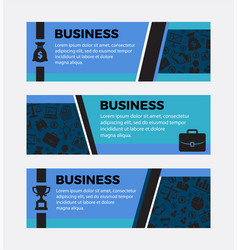 three business banners set of design elements vector image