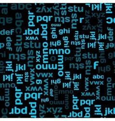 Typographic seamless vector image
