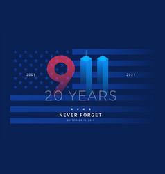 9 11 patriot day 20 years usa - patriotic vector