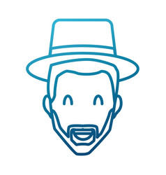 adult man with hat smiling vector image