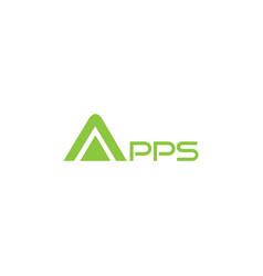 apps text logo design vector image