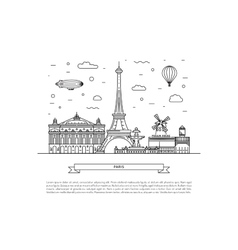 Architectural landmarks of Paris vector