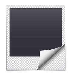 Black frame with checkered paper vector