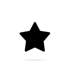 black star on a white background vector image