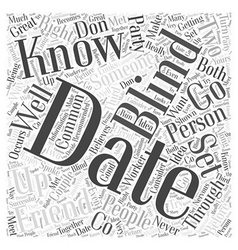 Blind dating word cloud concept vector