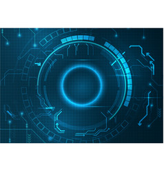 Blue pixel digital futuristic technology vector