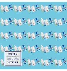 Boiler seamless pattern design vector