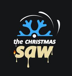Christmas saw vector