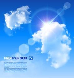 Clouds Sun V 002 01 vector