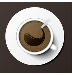 Coffee cup top view vector