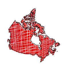 colored canada map vector image