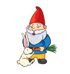 colorful garden gnome vector image
