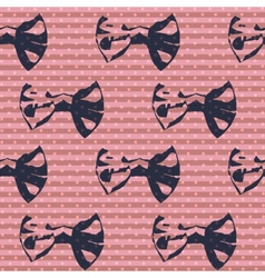 Cute bows seamless pattern vector image