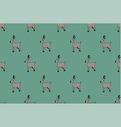 cute deer pattern vector image