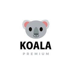 cute koala flat logo icon vector image