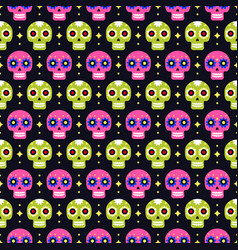day dead seamless pattern with colorful vector image