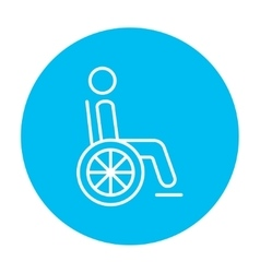 Disabled person line icon vector