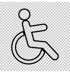 Disabled sign Line icon vector