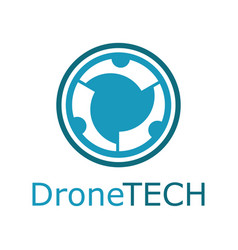 Drone technology logo vector
