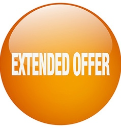 Extended offer orange round gel isolated push vector