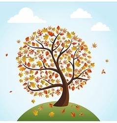 Fall season vintage banner global composition vector image