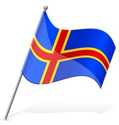 Flag of Aland vector